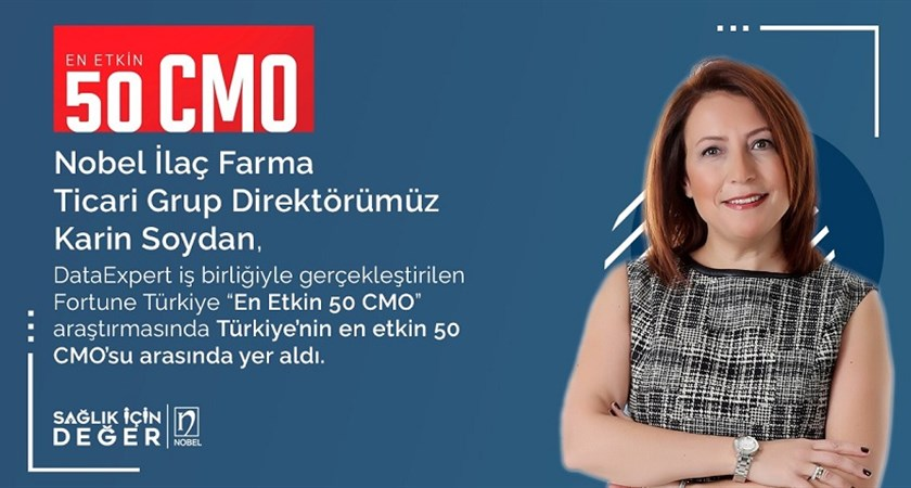 Our Pharma Commercial Group Director, Karin Soydan, was listed among Turkey's 50 Most Influential CMOs