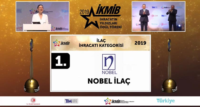 "The Star of ""Pharmaceutical Products Exports"" is Nobel İlaç Once Again"