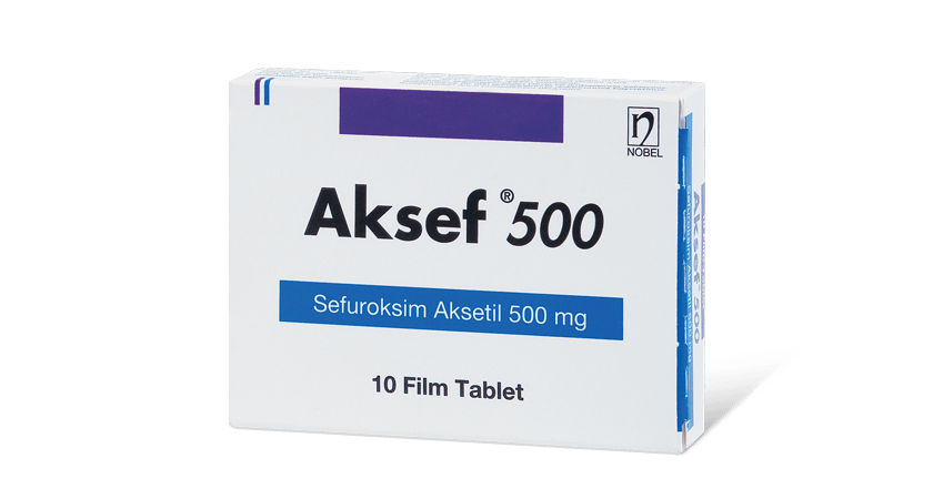 Aksef 500mg 10 Tablet