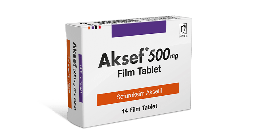 Aksef 500mg 14 Tablets