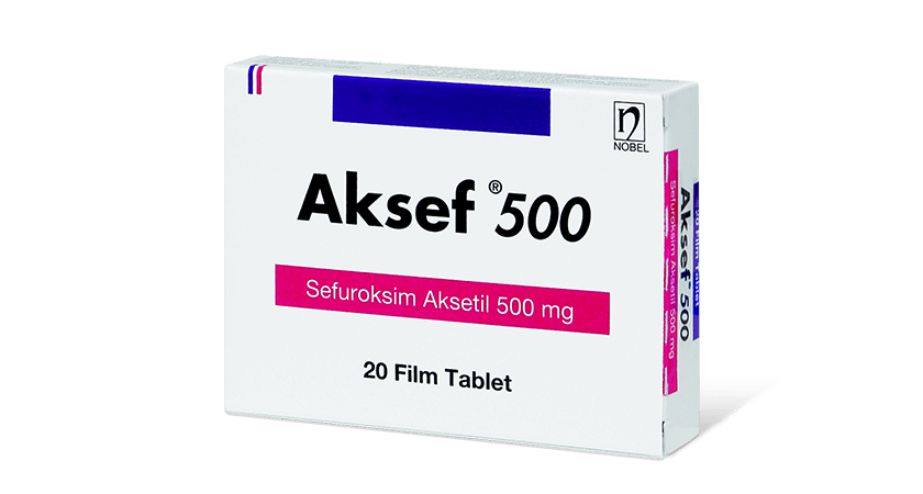 Aksef 500mg 20 Tablets