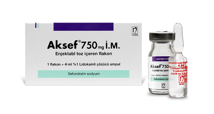 Aksef 750mg IM/IV Injectable vial