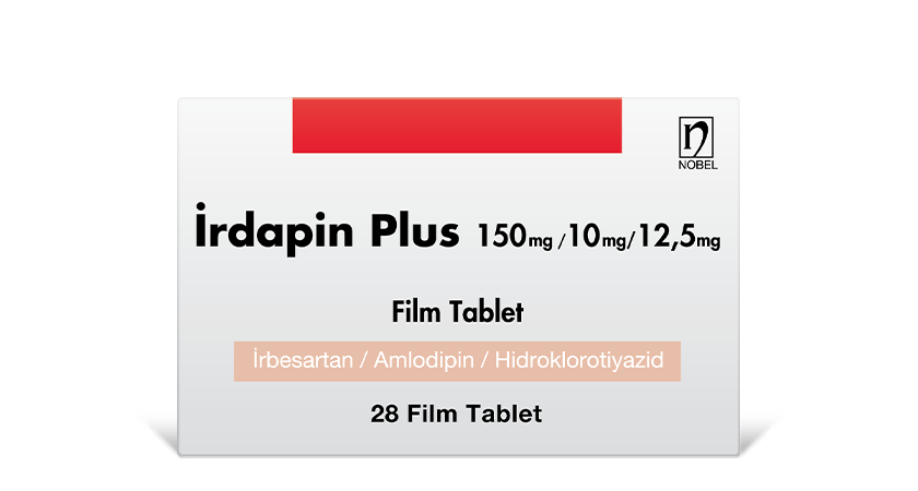 İrdapin Plus 150mg/10mg/12.5mg 28 Film Coated Tablets